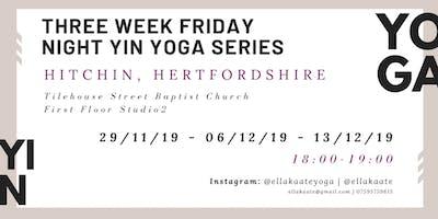 Three Week Yin Yoga Series