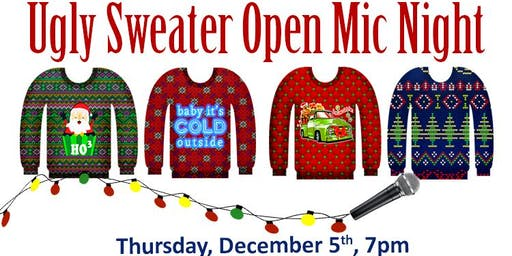 Ugly Sweater Open Mic Night
