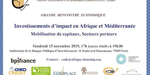 INVESTISSEMENTS D'IMPACT EN AFRIQUE ET MEDITERRANEE