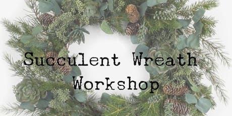 Winter Wreath Succulent Workshop tickets