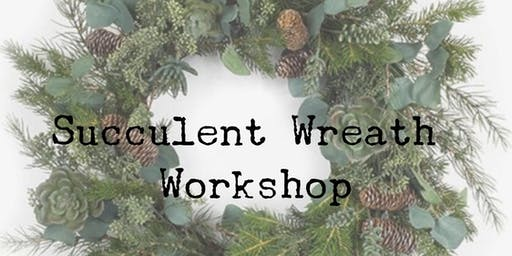 Winter Wreath Succulent Workshop