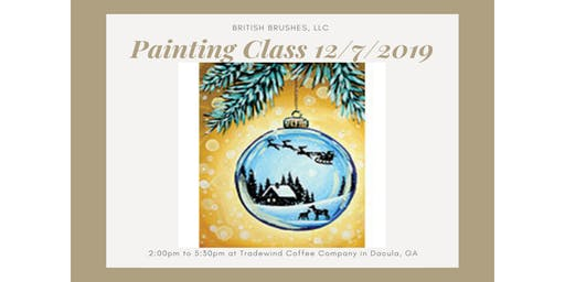 Painting Class - Glass Ornament - $5 Tradewind Gift Card Included