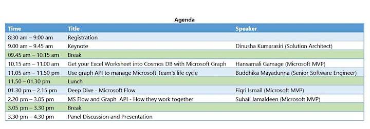 2019 Global Microsoft 365 Developer Bootcamp -  Sri Lanka - Colombo image