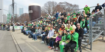 2020 CHICAGO ST. PATRICK'S DAY PARADE - VIP GRANDSTAND SEATING