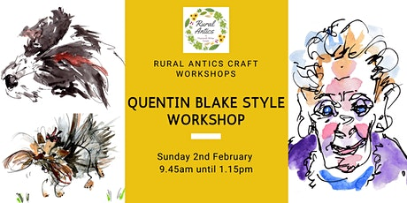 Quentin Blake style pen & ink illustrations Workshop tickets