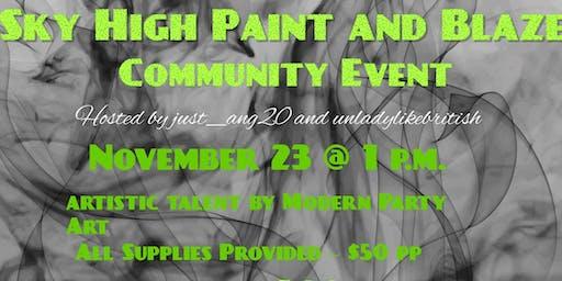Sky High Paint & Blaze Community Event