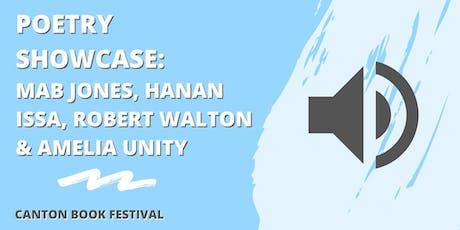 Poetry Showcase: Mab Jones, Hanan Issa, Robert Walton & Amelia Unity tickets
