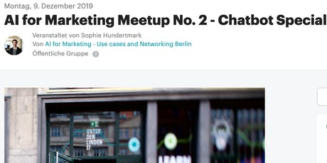 AI for Marketing Meetup No. 2 - Chatbot Special tickets