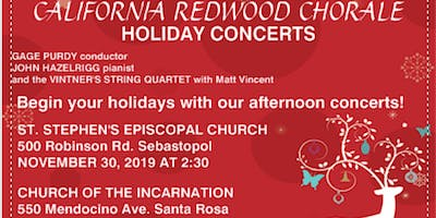 California Redwood Chorale Holiday Concerts