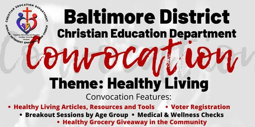 Baltimore District CED Convocation | Healthy Living
