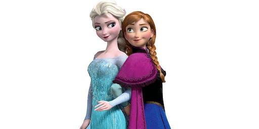 Anna and Elsa Visting
