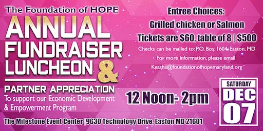 Foundation of HOPE Annual Fundraiser Luncheon & Partner Appreciation