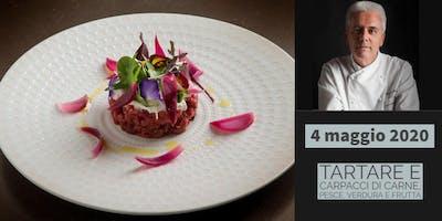 Tartare e carpacci di carne, *****, verdura e frutta con lo chef Danilo Angè