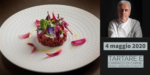 Tartare e carpacci di carne, pesce, verdura e frutta con lo chef Danilo Angè