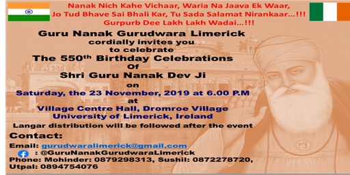 The 550th Birthday Celebrations of Shri Guru Nanak Dev Ji