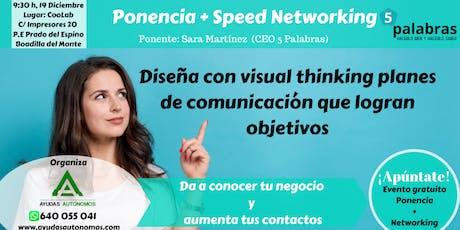 """Networking + Ponencia """"Diseña con Visual Thinking Planes de comunicación"""" entradas"""
