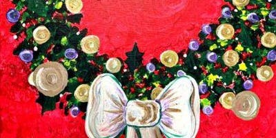 Paint Wine Denver Christmas Wreath Sat Dec 14th 3pm $35