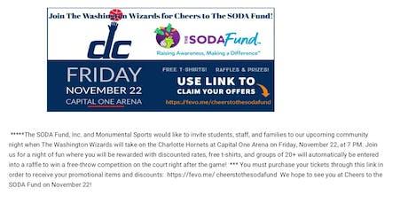 Washington Wizards SODA FUND: https://fevo.me/cheerstothesodafund tickets