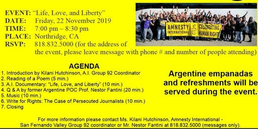 AMNESTY INTERNATIONAL HUMAN RIGHTS DAY (San Fernando Valley, Group 92)