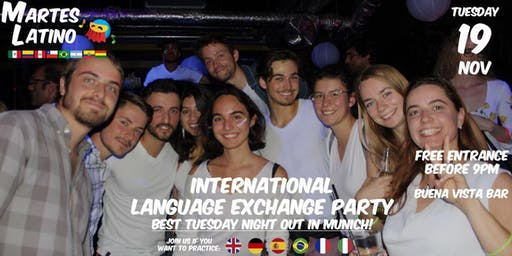 Martes Latino: Free language exchange party in Munich (100 - 120 people)