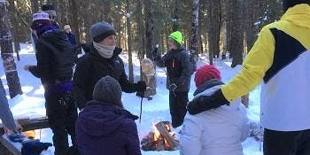 Caribou River Snowshoe/Bonfire Hike