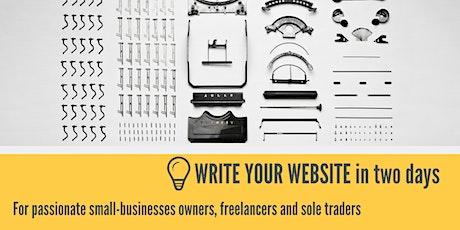 Write Your Website Workshop tickets