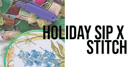Holiday Sip + Stitch