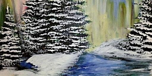 Paint Wine Denver Winter Holiday Sat Dec 14th 7pm $40