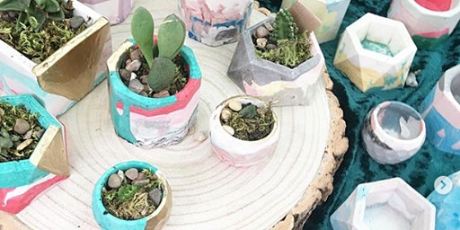 Jesmonite Plant Pot Workshop, Meadowhall Sessions