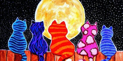 Paint Party - Fence Kitties