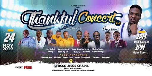 Thankful Concert with Tobey Albert