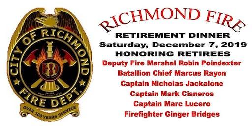 Richmond Fire Retirement Dinner