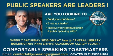 Public Speaking & Leadership Program @ Comfortably Speaking Toastmasters tickets