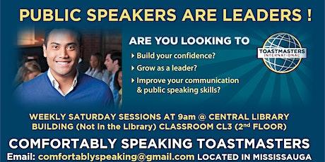 Public Speaking & Leadership Program @ Comfortably Speaking Toastmasters tickets