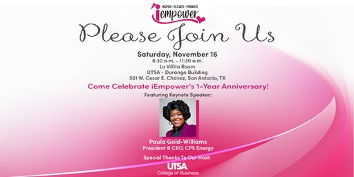 iEmpower 1st Year Anniversary Event, featuring Paula Gold-Williams!