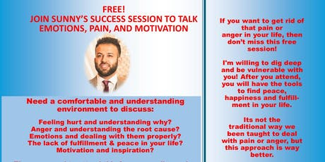 Join Sunny's Success table to talk emotions, pain, and motivation tickets
