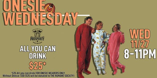 Onesie Wednesday at Prosperity Brewers