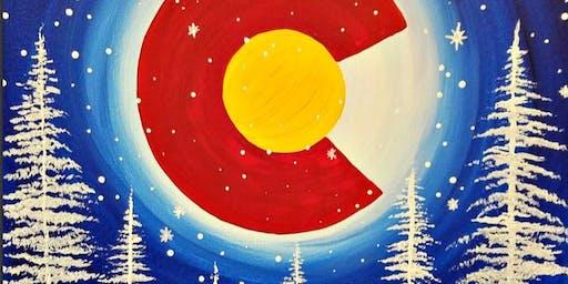 Paint Wine Denver Colorado Moon Thurs Dec 19th 6:30pm $35