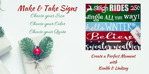 Wooden Holiday Signs ~ Make & Take