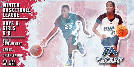 Flyght Academy K-6 Winter Basketball League Registration