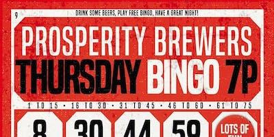 Bingo, Beers & Burgers at Prosperity Brewers