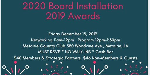 WCR New Orleans: 2020 INSTALLATION & 2019 AWARDS CEREMONY