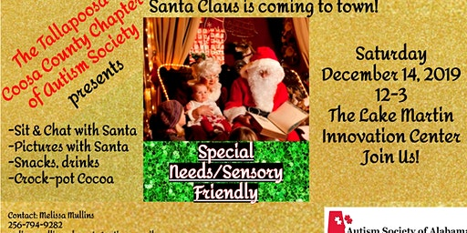 Sensory Santa presented by Autism Society of Alaba