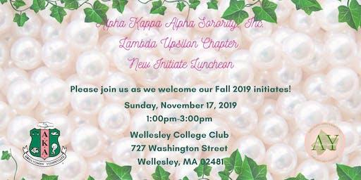 Lambda Upsilon Chapter Fall 2019 New Initiate Luncheon