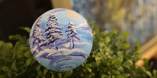 THINGS TO DO -PAINT & SIP: CHRISTMAS ORNAMENTS PAINTING: SNOW