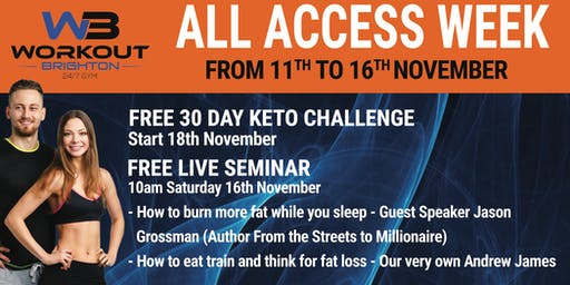 FREE ALL ACCESS WEEK 11th to 16th November 2019