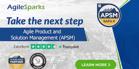 SAFe 4.6 Agile Product and Solution Management (APSM) - Chicago - Jan 2020 tickets