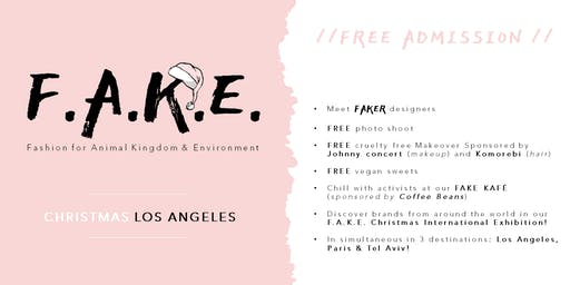 F.A.K.E. Christmas // Los Angeles //vegan fashion ethically made