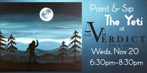 "Paint & Sip ""The Yeti"" at The Verdict Bar & Grill"