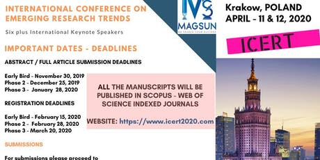 SCOPUS  International Conference on Emerging Research Trends tickets